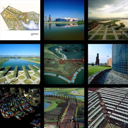 Obrázek projektů nových chinampas v Xochimilcu