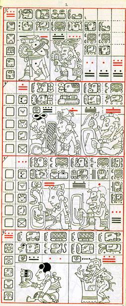 Mayský kodex - druhá strana drážďanského kodexu