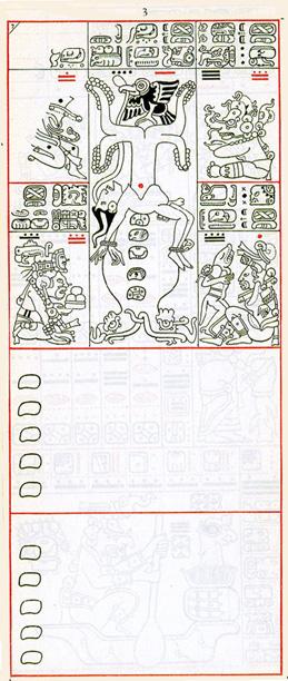 Mayský kodex - třetí strana drážďanského kodexu