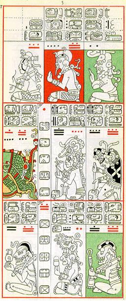 Pátá strana mayského kodexu drážďanského