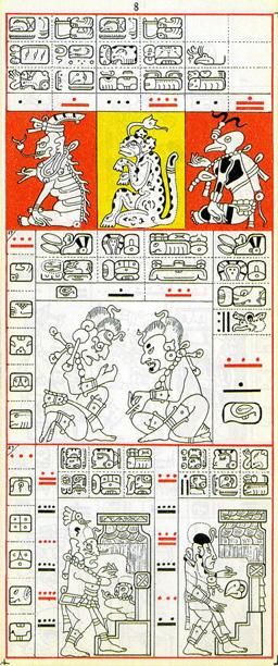Mayský kodex - 8. strana drážďanského kodexu