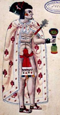 Aztécký kodex Ixtlilchitlův , psaný evropským i aztéckým písmem