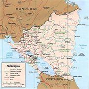 Mapa Nicaraguy