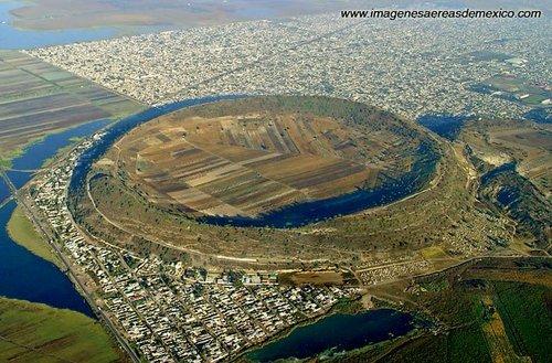 Pozůstatek jezerní části Xalco (Chalco)