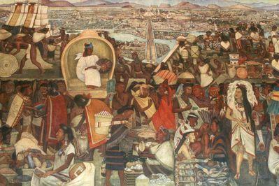 TENOCHTITLAN - NÁSTĚNNÁ MALBA - DIEGO RIVERA